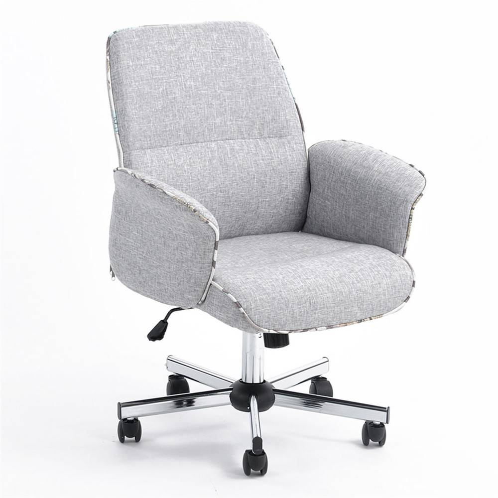 Linen Office Chair Us 149 Middle Back Imitation Linen Wear Resistant Antifouling Office Chair Gray In Office Sofas From Furniture On Aliexpress Alibaba Group