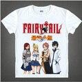 Бесплатная доставка активные короткие 2017 горячей продажи аниме майка японский fairy tail fairytail печатные мужчины и женщины футболка 04