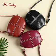 Brand Vintage Round Designer Crossbody Bag Clutch Women 2019 PU Leather Shoulder Bags Purse Ladies Small Handbags Mini Tote Bag