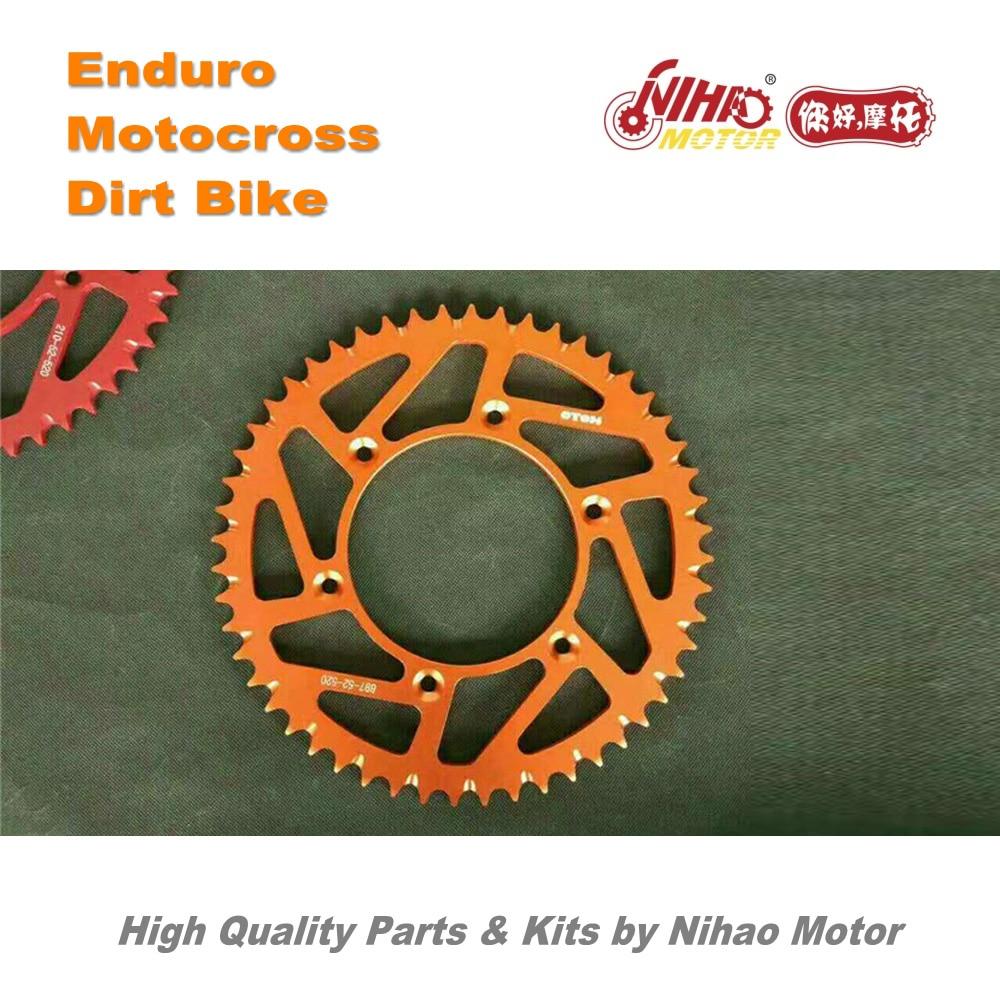 11 Motocross Parts 52T Rear Sproket chain CNC 52 tooth K16 K18 alloy for KTM Shinery Enduro Kit Dirt bike spare cross Nihao jet bd 3