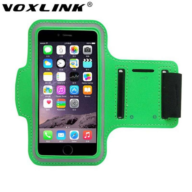 VOXLINK Waterproof Sports Running Armband Leather Case For Apple iPhone 7/6/6S Cell Mobile Phone Arm Bag Band Fashion Holder