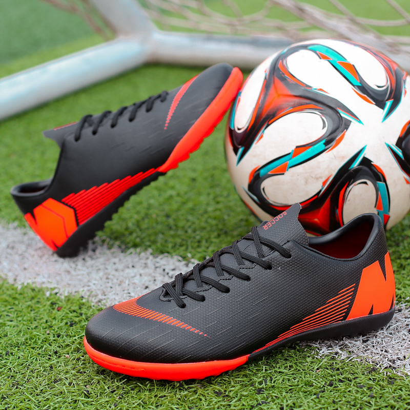 f8374502f8b Professional Men Football Shoes Low Club Classic Sport TF Kids Spikes  Outdoor Cleats