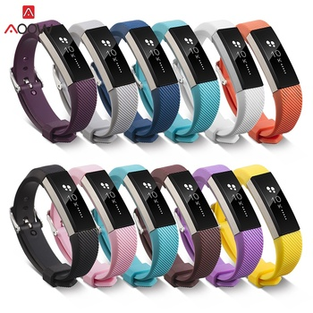 AOOW High Quality Soft Silicone Adjustable Band for Fitbit Alta HR Band Wristband Strap Bracelet Watch Replacement Accessories high quality replacement alloy crystal rhinestone wristband band strap bracelet for fitbit alta for fitbit alta hr watch band