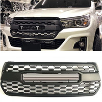 ODM OWN DESIGN MODIFIED auto grille BUMPER FRONT RACING GRILL GRILLS black MASK FIT FOR HILUX ROCCO 2018 pickup car accessoires