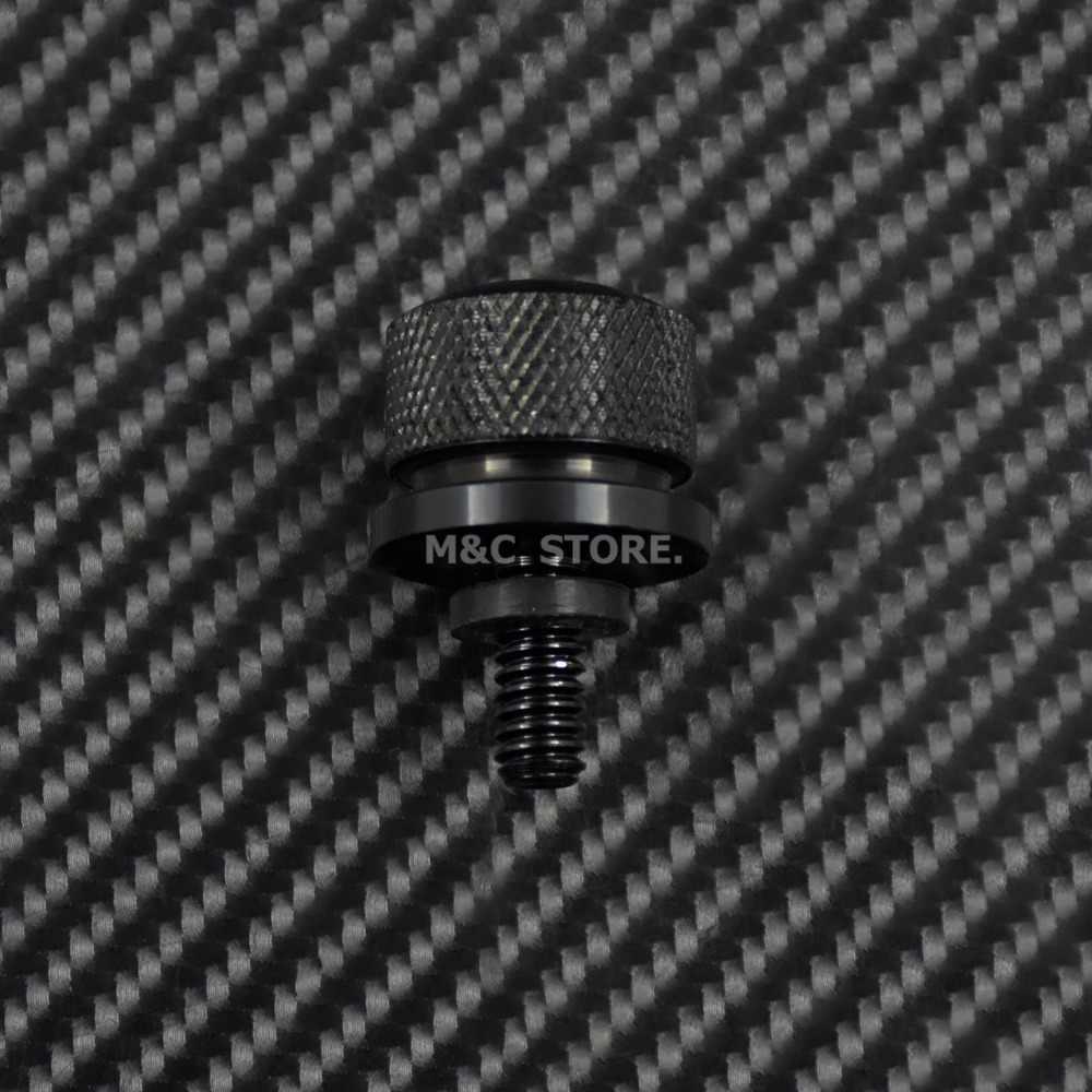Siyah krom arka koltuk cıvata paslanmaz çelik çamurluk cıvata vida için Harley Sportster Touring Dyna Softail sokak Glide 96-15