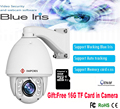 2017 New Auto tracking PTZ IP Camera Working Blue Iris software high speed Dome Camera with memory card support Hik NVR onvif