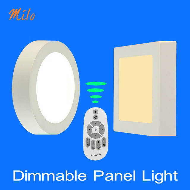 outlet store 37ca3 a2271 US $16.0 50% OFF|Wholesale Dimmable led panel light : Remote control ,  round & square shapes , 6W 24W , suspended ceiling fixed , 85 265V  50/60Hz-in ...