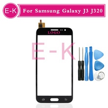 high quality 5.0″ For Samsung Galaxy J3 J320 Touch Screen Digitizer Sensor Glass Lens Panel Black White Gold + tools