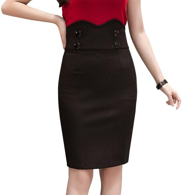 b4f7ae0af € 11.48 13% de DESCUENTO Faldas cortas de cintura alta para mujeres de  oficina de moda faldas de tubo sexis ceñidas al cuerpo 2019 primavera  verano ...