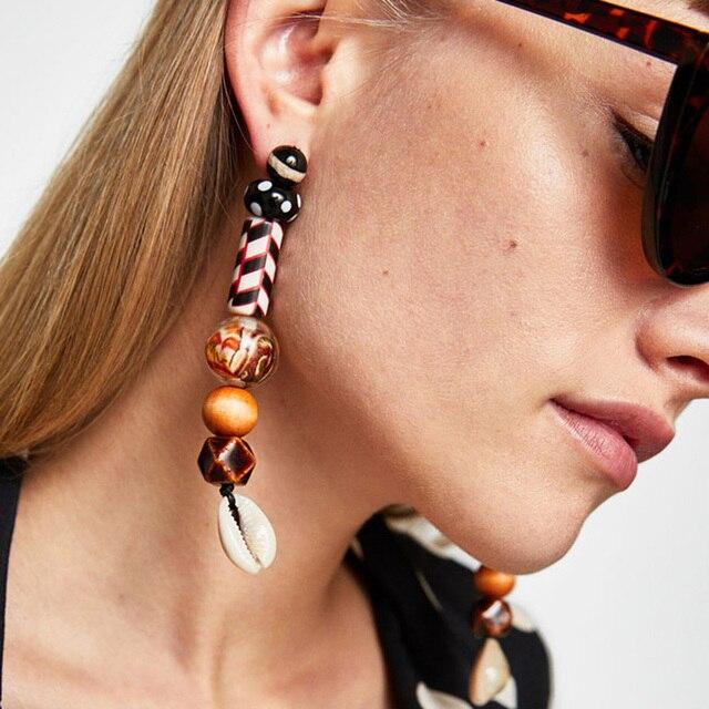 Best lady Fashion Jewelry Vintage Boho Long Pendant Dangle Earrings Bohemian Hot