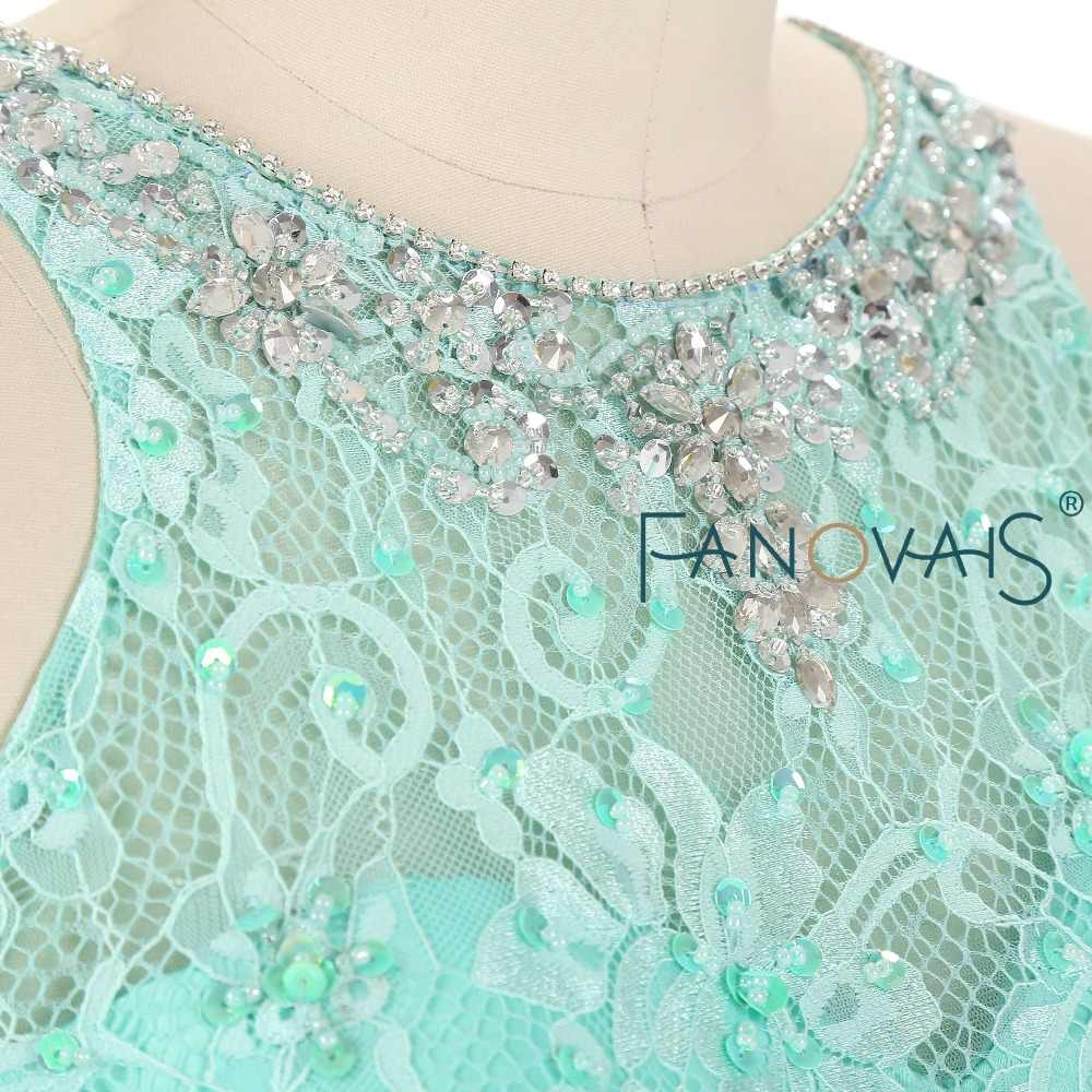 40276ef67 ... Menta verde Quinceanera Vestido de dos piezas del baile de graduación  vestidos de encaje Vestido de