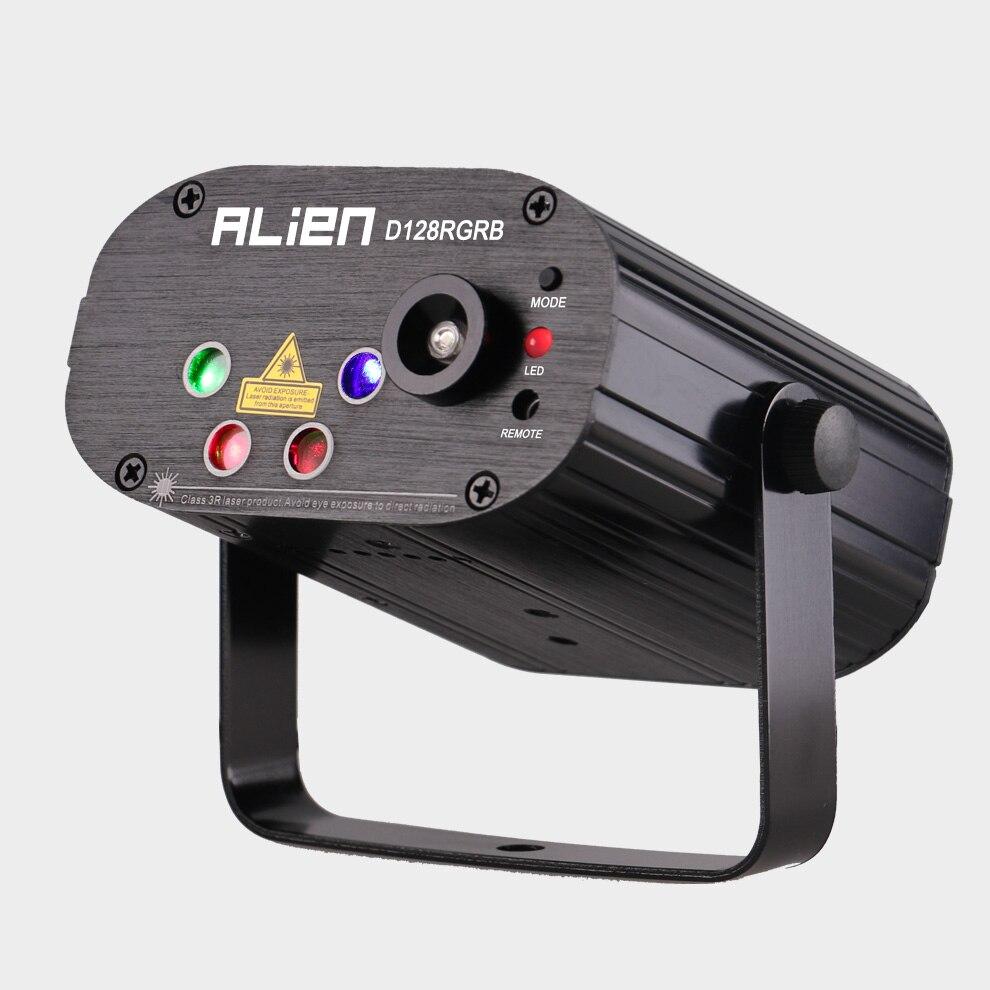 Инопланетный пульт 128 узоры RGB DJ лазерный проектор сценический светильник ing Эффект диско клуб Рождество вечерние праздничное шоу светильни... - 2