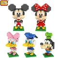 "LOZ Classic Anime Cartoon Character 14 Styles Mickey Minnie Mouse Toy ""Don""Donald Daisy Duck Building Blocks Educational Toys"