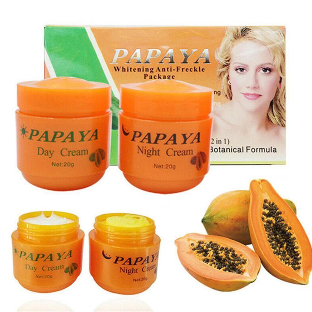 2 Piece Of FEIQUE PAPAYA Vitamina C Whitening Cream Pearl Cream Anti Freckle Nourishing Skin Care Anti Freckle Face Cream