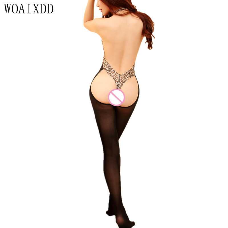 2017 New hot Mesh Fishnet bodystocking sexy lingerie halter nightclub open crotch women sex products body stocking Lingerie