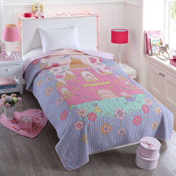 Quality Kids Quilt Set 2pcs Quilted Bedspread Bed Covers Washed Cotton Quilts Coverlet Cover Twin Size Boys Bedding Blanket