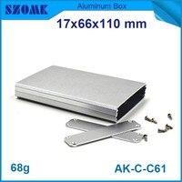 1 stück freies verschiffen aluminiumprofil netzwerk gehäuse, das in silber farbe aluminium industrie box fit pcb gut 12,2x63mm
