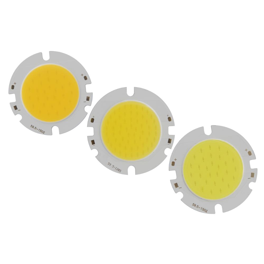 ALLCob 1pcs 5pcs 10pcs round COB chip DIY Light Source 100lm w 60mm 42mm COB led Cold Warm Nature White for downlight in LED Bulbs Tubes from Lights Lighting