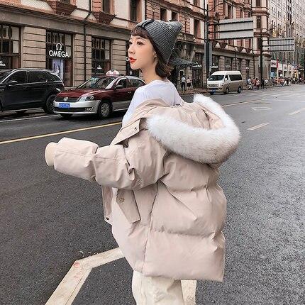 Veste Dames Bas Parka Femmes Épaissie Manteau D'hiver Couture Le Vers Coton qA7xvZz6