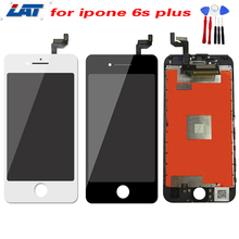 For iPhone 6s Plus Lcd Display Screen Digitizer Replacement for iPhone6s Plus Lcd 5.5 Inch 100% New White Black +Repair Tool Set