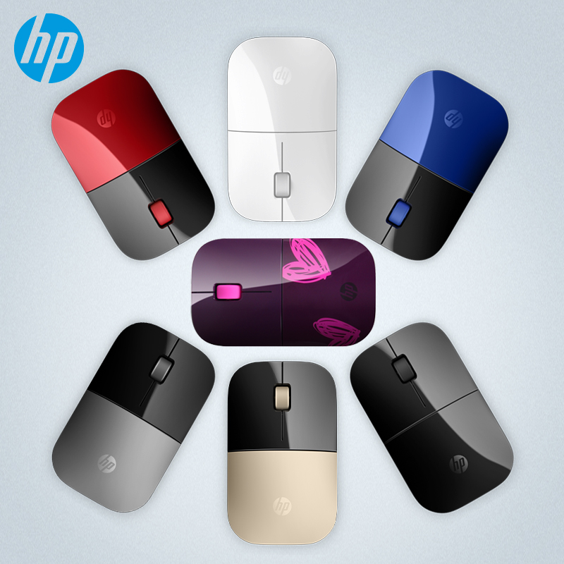 US $29 99 |HP Z3700 Optical USB 2 4Ghz Wireless mouse 1200DPI 3 Button  Silent Colorful Laptop PC Office wired mouse-in Mice from Computer & Office  on