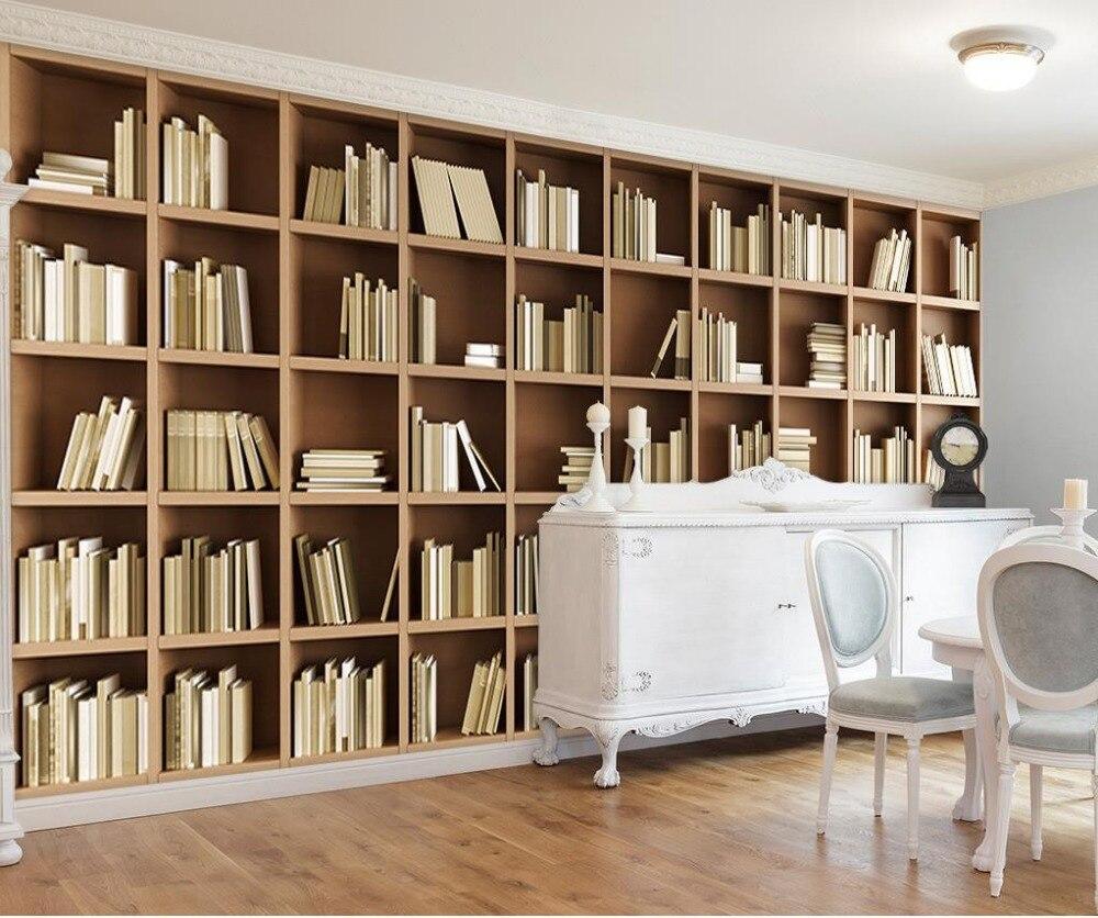 Living Room Bookshelf By European Home Decor Mural Wallpaper Non Woven Material