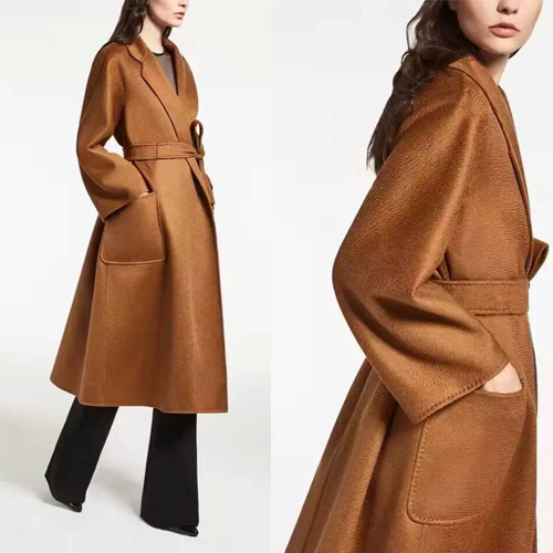100% camelhair coat female,winter jacket female winter,amazing women winter coats,elegant water ripples camel coat abrigos mujer