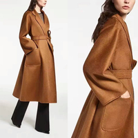 100% camelhair coat female,winter jacket female winter,amazing women winter coats,elegant water ripples camel coat abrigos mujer