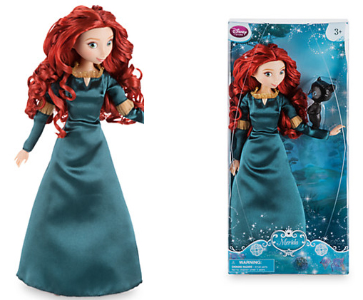 Original DISNEY Store Brave Merida Classic princess Doll with Bear Cub Figure 12