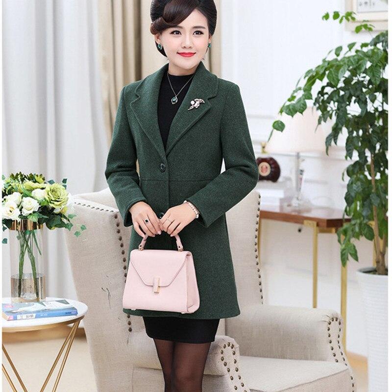 Grande verde Mujer 2018 Lana Ropa Moda De Abrigo Talla Coreano rosado  Elegante Militar Invierno Abrigos ... 2010d4ab6e7c