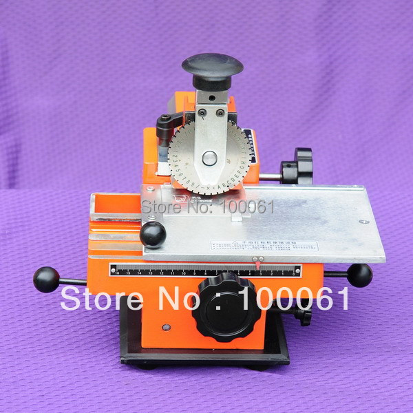 Manual Metal Nameplate Letter Stamping Machine