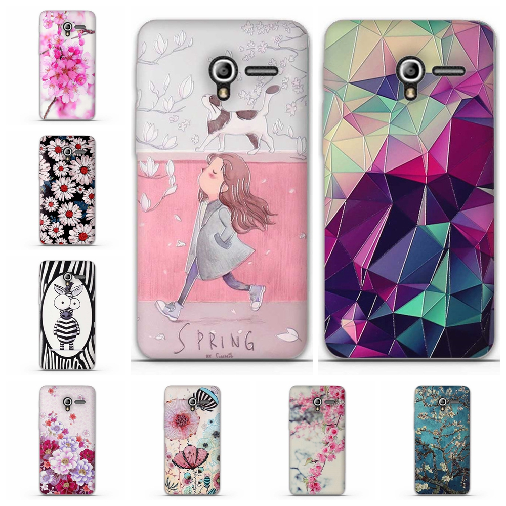 Luxury Flower Cases Silicon 3D Cute Bags Skin Printing Phone Case For Alcatel One Touch Pixi 3 4.5 5017 5017D 5017X 5019D Cover