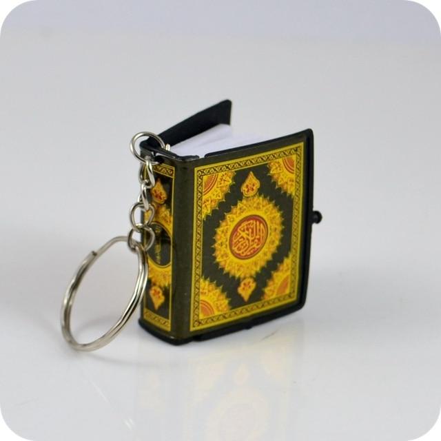 Chaînes à clé pour lire en papier, Mini coran, langue arabe, Islam, Islam, ALLAH, véritable pendentif, bijoux religieux à la mode