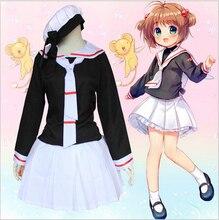 Precioso japonés anime card captor sakura dress dress cosplay traje de las mujeres