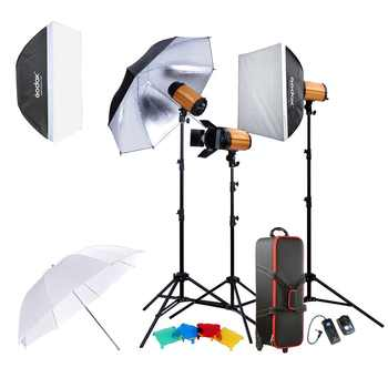Godox 300SDI Professional Photography Lighting Lamp Kit Set with Light Stand Softbox Barn Door Trigger 300W Studio Flash Strobe - DISCOUNT ITEM  15% OFF All Category