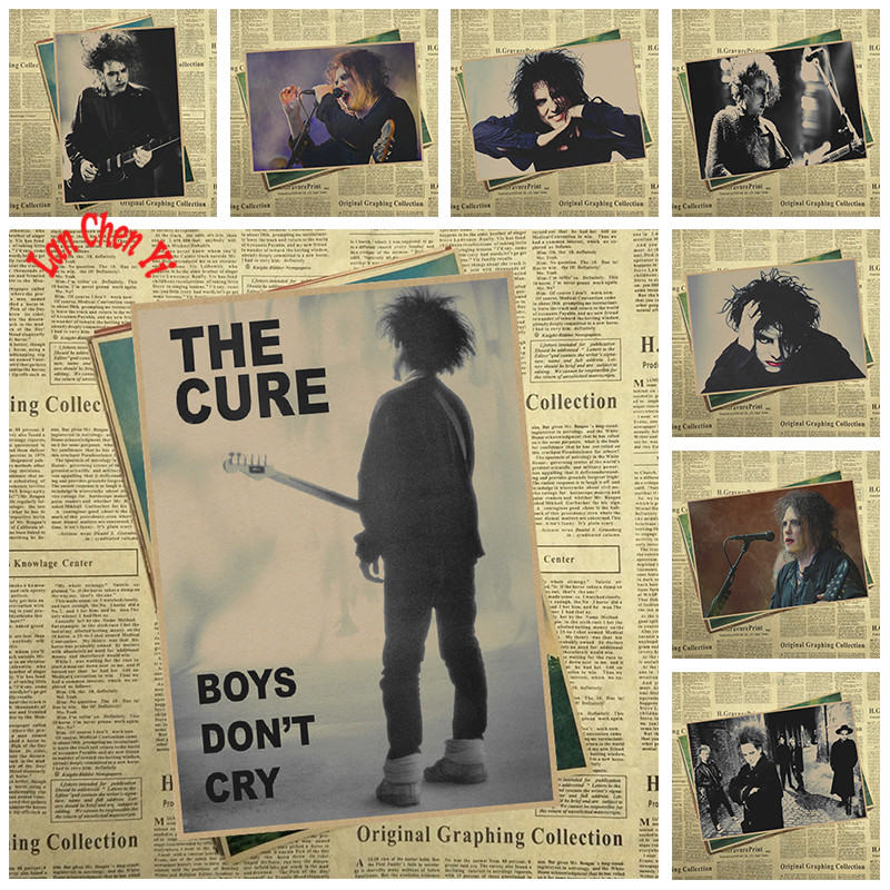 The Cure Rock Band Music Kraft Paper Poster Living Dining Room Wall Decorative Paintings