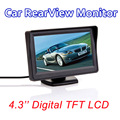 4.3-polegadas a cores TFT lcd monitor Do Carro retrovisor estacionamento backup 4.3 ''de vídeo PAL/NTSC FRETE GRÁTIS