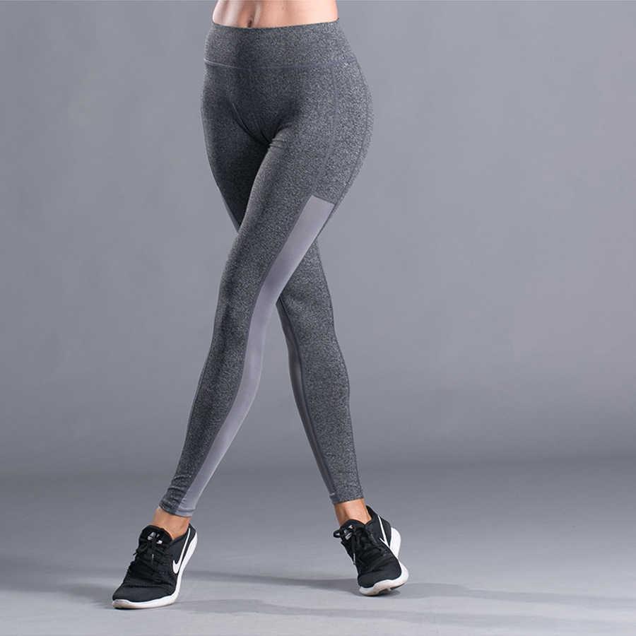 b46ccfe37c2f2 Женская спортивная колготки бег спортивные брюки сжатия колготки спортивной  Для женщин тренажерный зал Йога-брюки