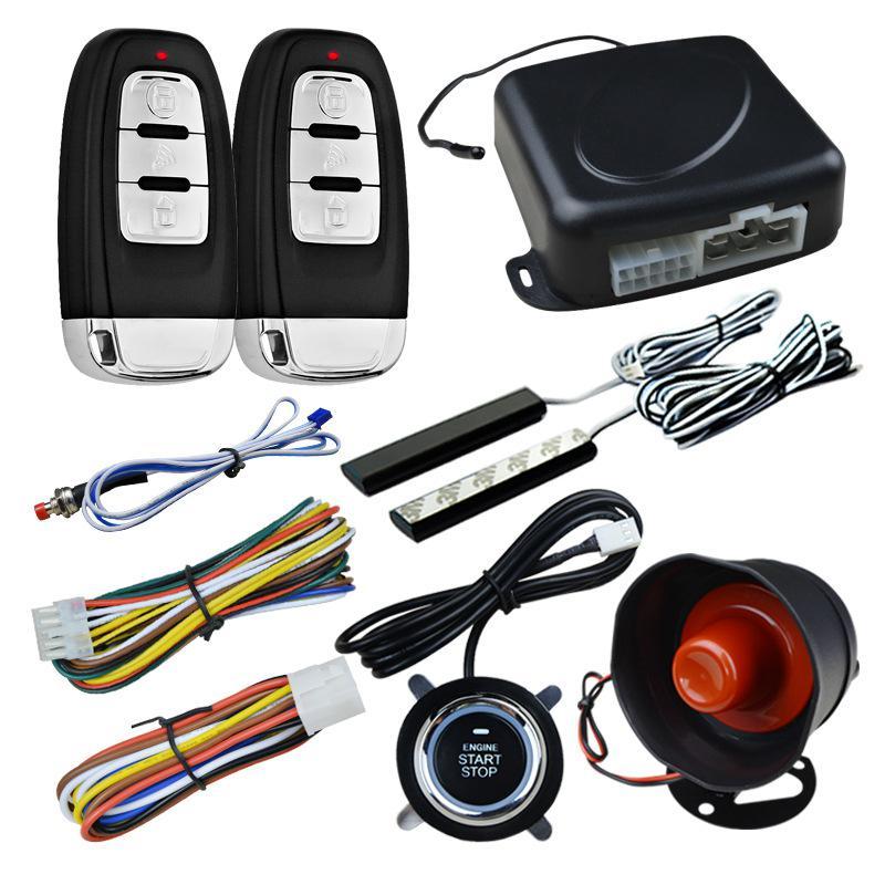 Système de sécurité d'alarme de voiture LumiParty entrée sans clé PKE système de démarrage par bouton-poussoir à distance système de démarrage Intelligent à un bouton r30