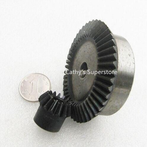 Engrenage conique 15 dents 45 dents rapport 1:3 Mod 2, 45 # pièces de Transmission à Angle droit en acier robot à monter soi-même compétition M = 2