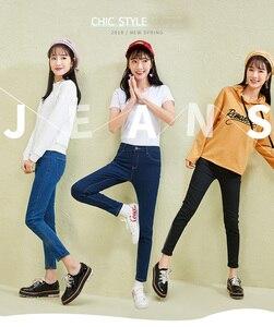 Image 2 - Semir Nieuwe Jeans Voor Vrouwen 2020 Vintage Slanke Stijl Potlood Jean Hoge Kwaliteit Denim Broek Voor 4 Seizoen Broek Tiener mode