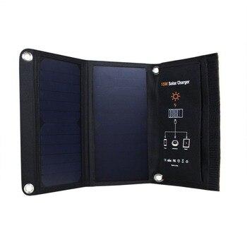 15W Waterproof Foldable Solar Panel USB Charging