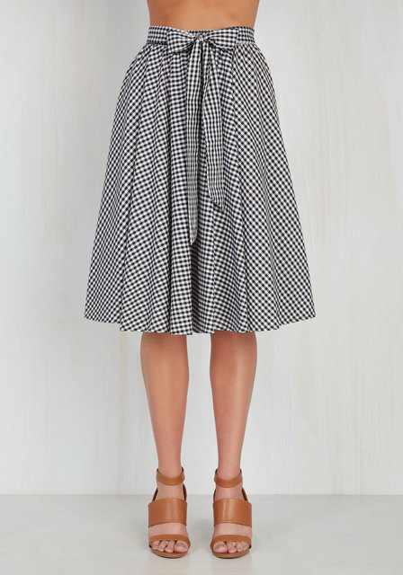 summer women vintage 50s white black plaid checked high waist swing midi skirt  plus size 4xl skirts rock cotton saia femininas 68802c075611