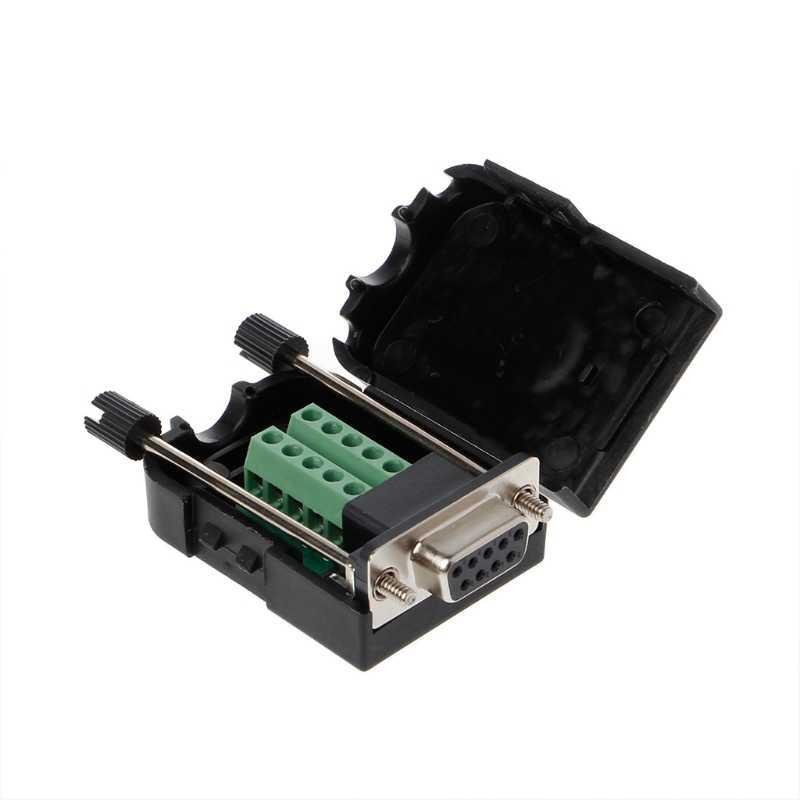 1PC DB9 女性 RS232 シリアルコネクタブレークアウト基板ネジ端子ジャックポスト