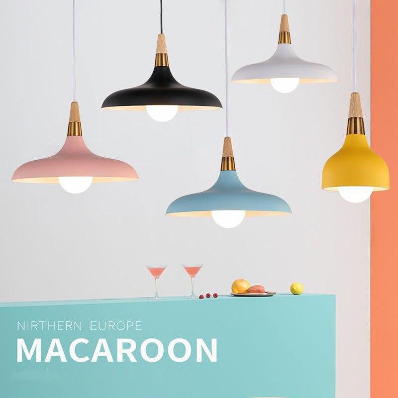 Lampara Colgante Pendant Lights Lustres Abajur Pendant Lamp Luminaire Hanglamp Wood Aluminum Lamp Shade For Home Lighting Dining (9)