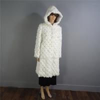 Diamond fur Lexus Rex fur coat Woman Imbue Diamond True fur Have a hat