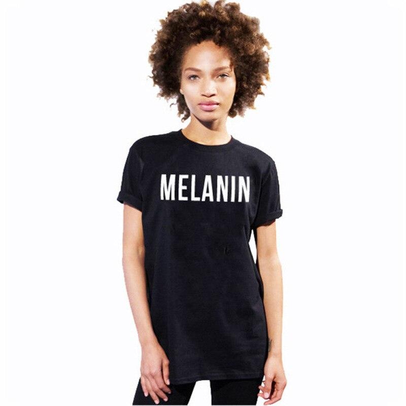 Melanin mode t-shirt hip hop t-shirt moletom tun tumblr schwarz t-shirt frauen instagram fashion t-shirt t-stücke frauen tops