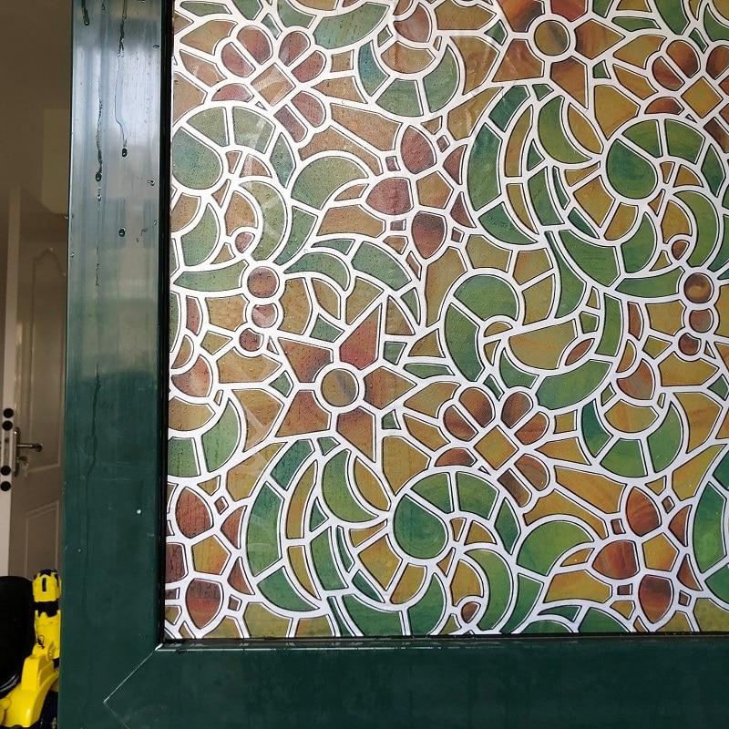 Top Gred Warna Self-Adhesive Hiasan Privasi Kaca Window Filem Kaca Ternakan 45/60 / 75cm * 300cm 9559