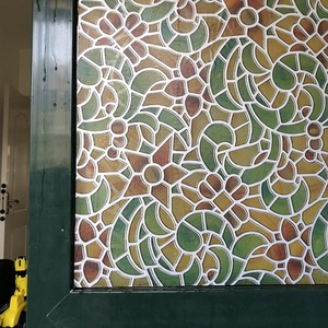 Top Grade Colours Self-Adhesive Decorative Frosted Privacy Window Film Stained Glass Films 45/60/75cm*300cm 9559