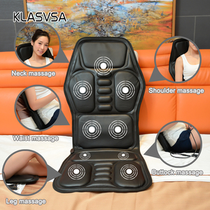 Image 2 - KLASVSA Heating Neck Massage Chair For Back Seat Topper Car Home Office Massager Vibrate Cushion Back Neck Relaxation